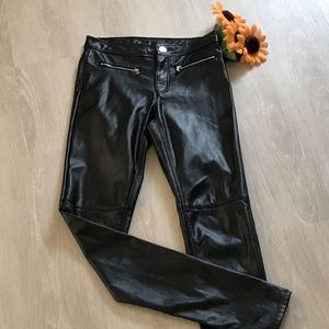 Divided faux  leather Moto skinny  pants🌻